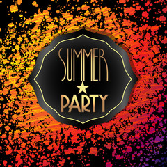Vector splattered summer party brochure