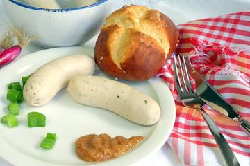 Munich bavarian weisswurst