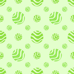 Green soft abstract seamless pattern, polka dot fabric, backgrou