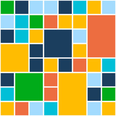 Squares Color Background. Vector Template for Flat Design