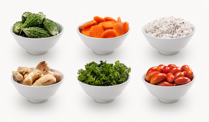 composite with many different varieties of ingredients