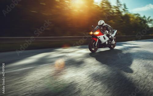 Fotobehang Extreme Sporten Biker