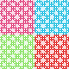 Set of four vector polka dot seamless patterns