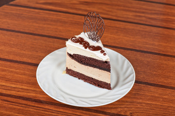 chocolate cake piece
