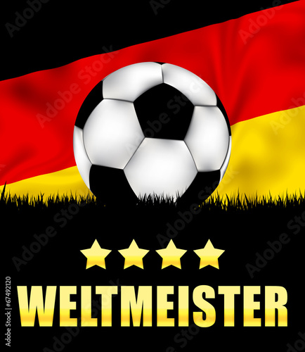 canvas print picture Weltmeister