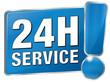 24h Service - blau