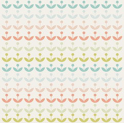 retro abstract modern floral background