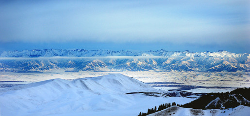 Tien Shan from Karakol ski resort