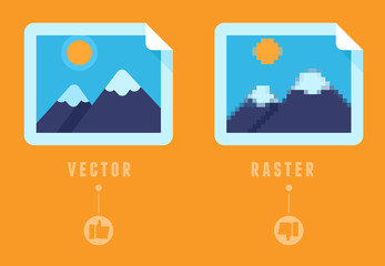 Raster vs vector concept