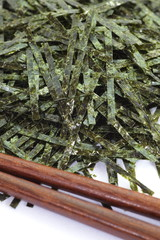 Japanese food ingredient dried seaweed , nori