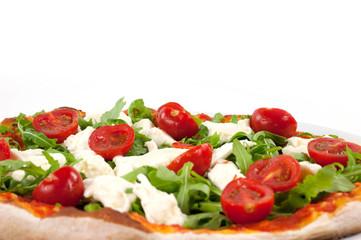 pizza al pomodoro e rucola
