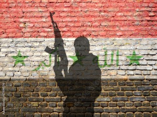Leinwanddruck Bild civil war in Iraq