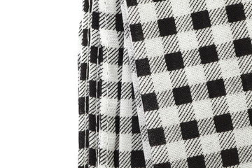 Black and white picnic tablecloth checkered pattern