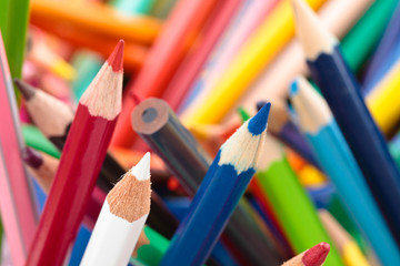 Colorful pencils background.