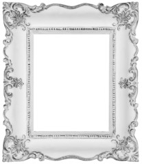 White frame isolated on white, clipping paths included