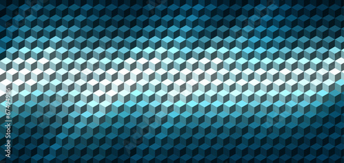 Abstract cube geometric background