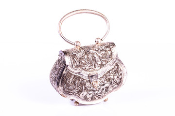 silver clutch bag  handmade