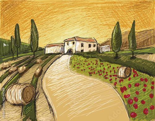 Tuscany Evening - 67495186