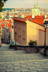 Medieval staircase in Prague