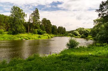 Уральская река в лесу