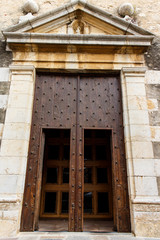 door entry from catholic church