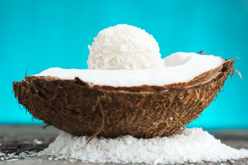 Coconut cake fresh coconut