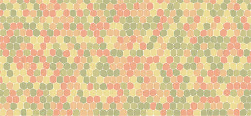 Vintage tones hexagonal abstract background
