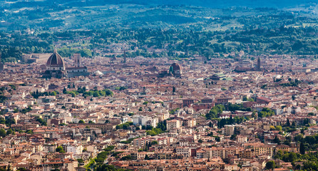 The panorama of Florence old city, Italy. Florence