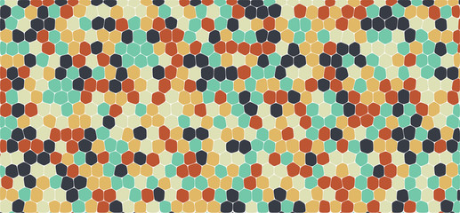 Retro tones hexagonal abstract background