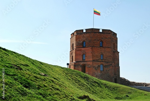 Gediminas castle in Vilnius city. Lithuania
