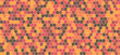 Orange and brown tones hexagonal abstract background