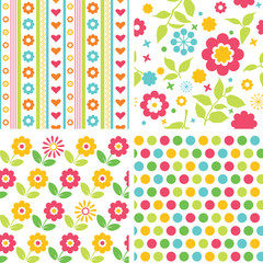 Set of colorful baby patterns