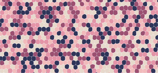 Pink tones hexagonal abstract background