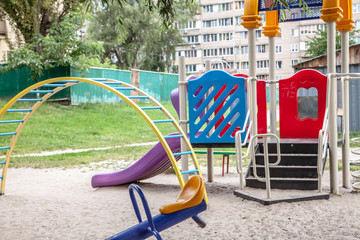 Children playground in residential neighborhood