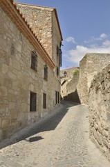 Ancient street  in Trujillo, Spain