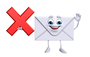 Mail Character with cross sign