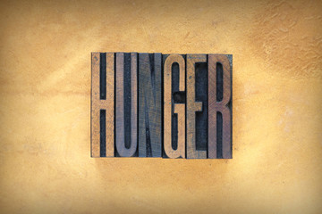 Hunger Letterpress