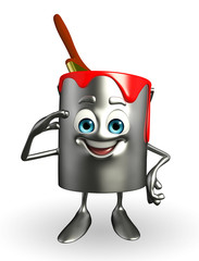 Paint Bucket Character is Salute pose