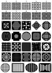 Types of ventilation grilles (contour).