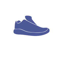 Blue athletic shoes