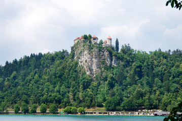 Burg in Bled Slowenien