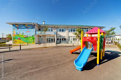 Leinwandbild Motiv Preschool building