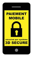 Paiement mobile sécurisé par système 3D secure