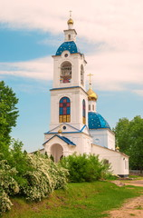 Bell tower of one of the convents in the Yaroslavl region