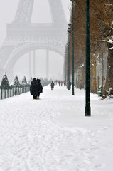 Winter day in Paris