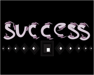 magic success text on a blue black background