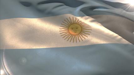 Large argentina national flag waving