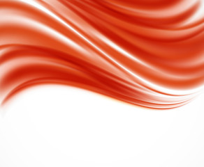 Abstract red wavy backround