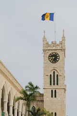Tower with hours, Parliament building. Bridgetown, Barbados