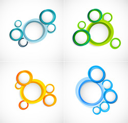 Set of circles backgrounds